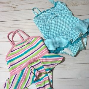2 one piece swimsuits 12-18 months